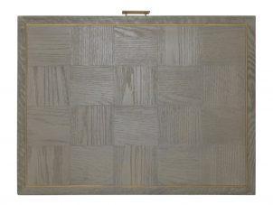 Console Table - Grey Inlaid Oak - 3 Drawers - Georgia Furniture Range