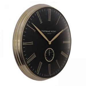 Wall Clock - Round Thomas Kent' Design - Brass Finish Surround