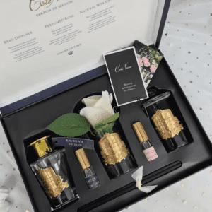 'Eau De Vie' Luxury Cote Noire Flower Diffuser Gift Set - Black Box