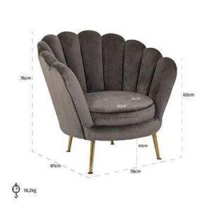 Easy Chair -Finger Back Design- Brass Legs - Green Velvet