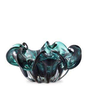 Triada Table Bowl - Hand Blown Green Glass Design