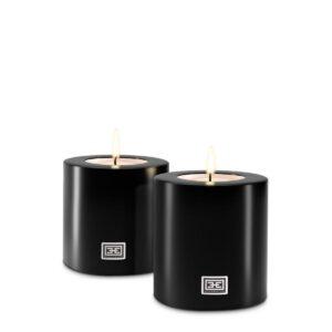 12cm Never Ending Candle - Superb Designer T Light Holder - Black Finish