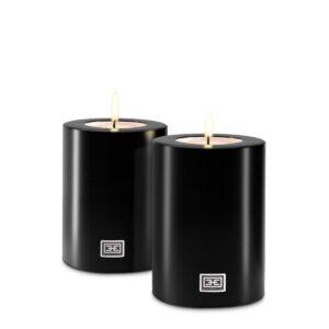 15cm Never Ending Candle - Superb Designer T Light Holder - Black Finish