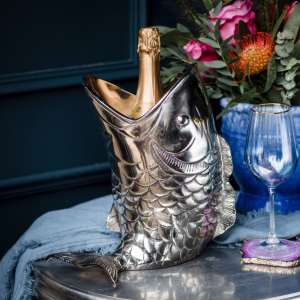 Champagne Holder - Open Mouth Fish - Quirky Wine Bottle Holder