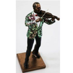 Music Man Statue - Part Of 'The Band' Set - Resin Cast Finish