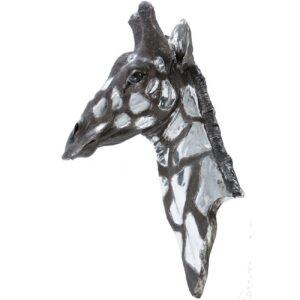 Giraffe Head - Dappled Silver - Designed For Wall Hanging