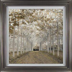 'White Gold' Artwork - Silver Frame -Varnished - White Slip & Glass - Assaf Frank