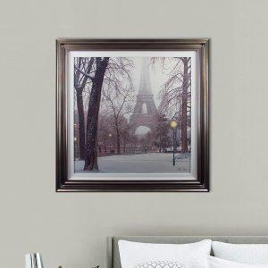 'A Foggy Day In Paris' Artwork - Silver Framed & White Slip Design - Rod Chase