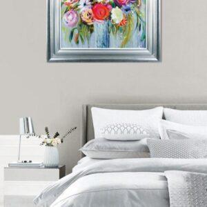 'Blooming Sunshine' Artwork - Silver Framed & White Slip Design - Nina Ramos