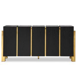 Sideboard - Black Ash & Polished Brass Finish - Florence Range