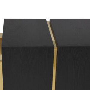 Chest Of Drawers - Black Ash & Polished Brass Finish - Florence Range